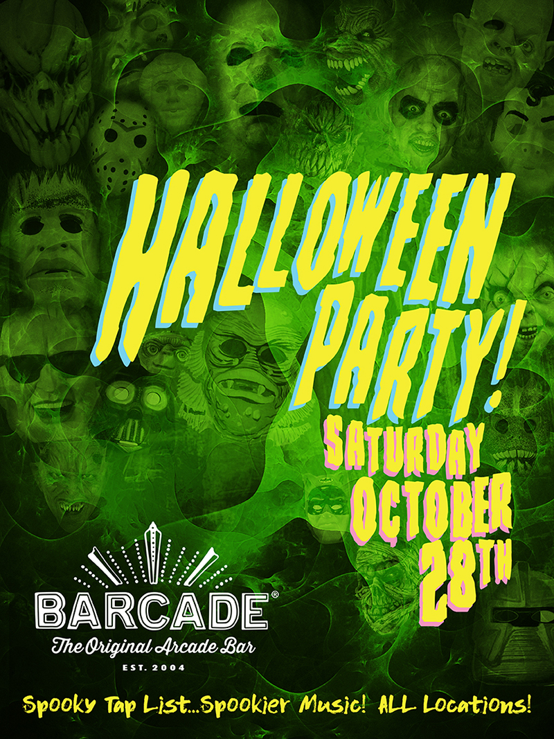 Barcade halloween party visit ct for Tap tap fish halloween event